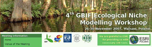 GBIF ENM Workshop 2007